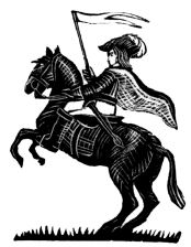 wood-engraving print: The Cavalier for The Runaway